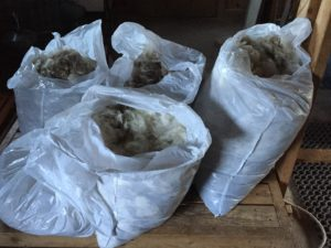 5 more bags of mohair from the spring 2016 shearing.